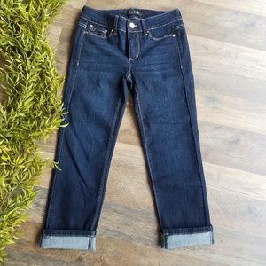 WHBM • Blanc Embellished Slim Crop Jean